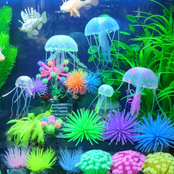 Artificial plant can also be a good choice for your for Aquarium decoration ideas cheap