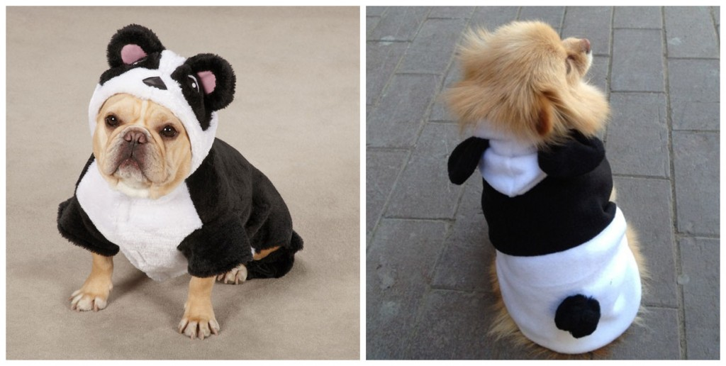 Dog Panda Warm Coat